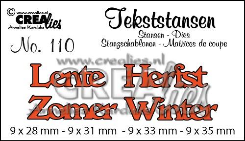 Tekststans no. 110, Lente / Zomer / Herfst / Winter