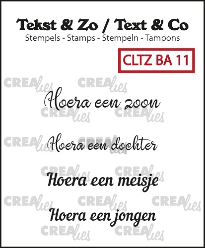 Text & Co stamps, Baby 11