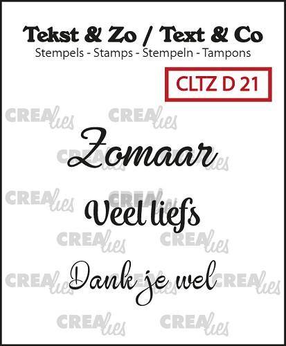 Tekst & Zo stempels, Divers 21