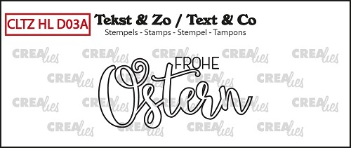 Deutsche Textstempel, Handlettering no. 03A, Frohe Ostern (outline)