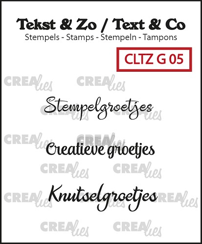 Text & co stamp, Groetjes 5