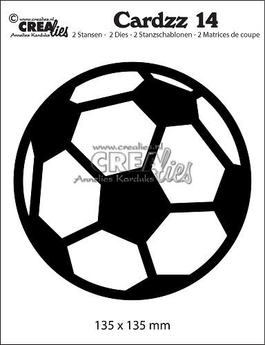 Cardzz stansen/dies no. 14, Voetbal/Soccer ball