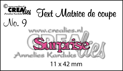 Matrice de coupe texte no. 09, Surprise