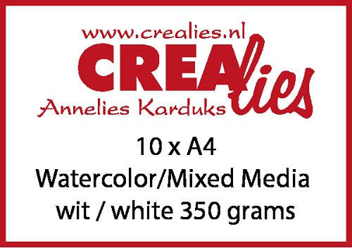 Watercolor / Mixed Media papier, wit 350 grams (10x A4)