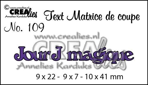 Matrice de coupe texte no. 109, Jour J magique
