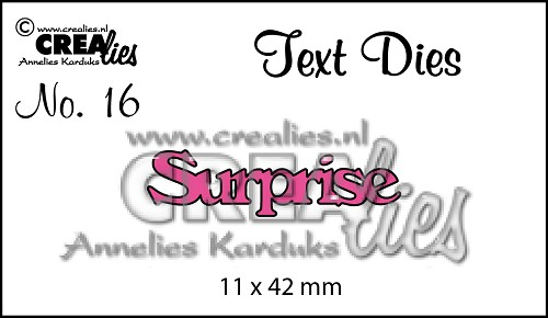 Text Die no. 16, Surprise