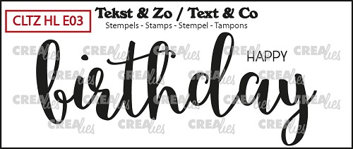 Text & Co English stamp Handlettering no. 03, Happy Birthday, solid