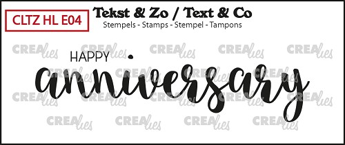 Text & Co English stamp Handlettering no. 04, Happy anniversary, solid