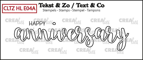 Text & Co English stamp Handlettering no. 04A, Happy anniversary (outline)