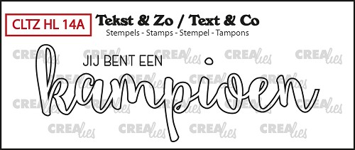 Tekst & Zo stamps, Handlettering no. 14A, Champion (outline)