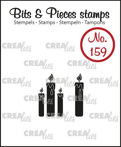 Bits & Pieces stamp no. 159, Candles (solid)