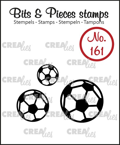 Bits & Pieces stempel/stamp no. 161, Voetballen / Soccer balls