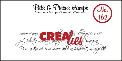 Bits & Pieces stempel no. 162, Krullend handschrift 3 lijnen