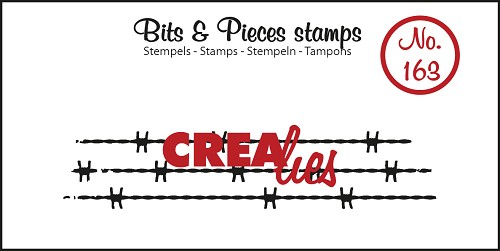 Bits & Pieces stempel no. 163, prikkeldraad