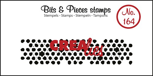 Bits & Pieces stamp no. 164, Wonky circles (strip)
