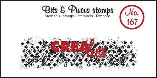 Bits & Pieces stempel no. 167, Onregelmatige grunge vierkanten (langw.)