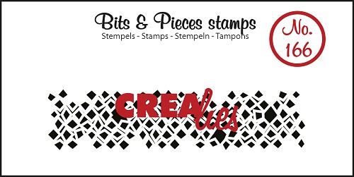 Bits & Pieces stamp no. 166, Wonky squares (strip)