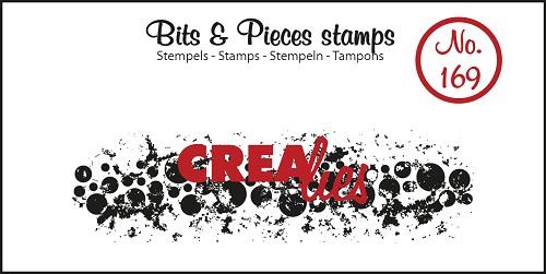 Bits & Pieces stempel no. 169, Grunge cirkels (langwerpig)