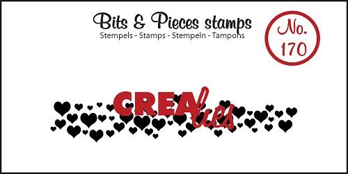Bits & Pieces stempel no. 170, Hartjes (langwerpig)