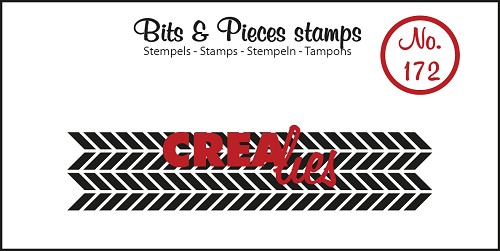 Bits & Pieces stamp no. 172, Zigzags (strip)
