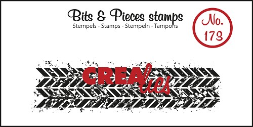 Bits & Pieces stamp no. 173, Grunge zigzags (strip)