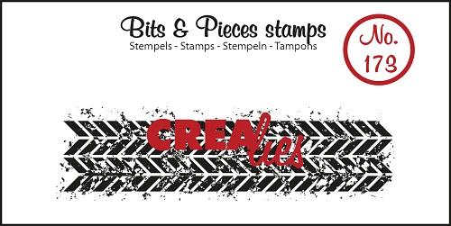 Bits & Pieces stempel no. 173, Grunge zigzag (langwerpig)