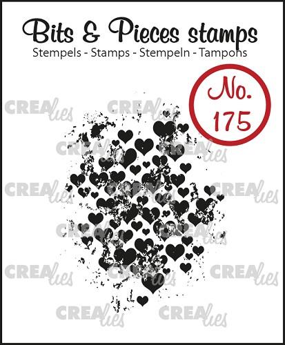 Bits & Pieces stempel no. 175, Grunge hartjes