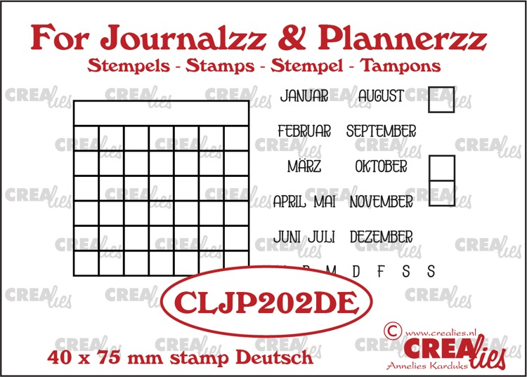 Stamps: Monthly Tracker DE