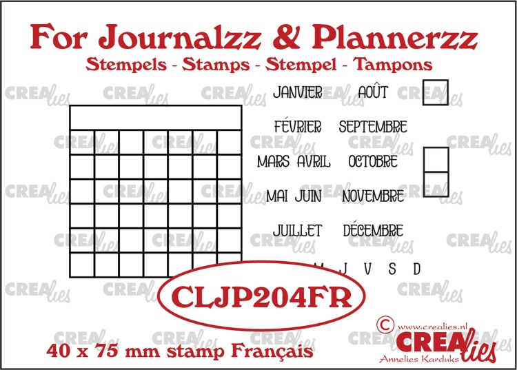 Stamps: Monthly Tracker FR