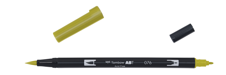 Tombow ABT Dual Brush Pen, Green Ochre