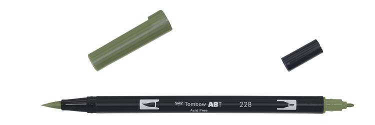 Tombow ABT Dual Brush Pen, Grey Green