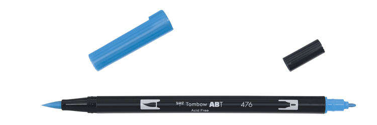 Tombow ABT Dual Brush Pen, Cyan