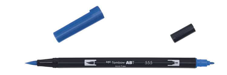 Tombow ABT Dual Brush Pen, Ultramarine