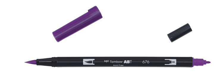 Tombow ABT Dual Brush Pen, Royal Purple