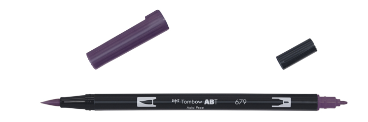 Tombow ABT Dual Brush Pen, Dark Plum