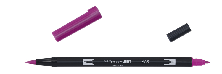Tombow ABT Dual Brush Pen, Deep Magenta