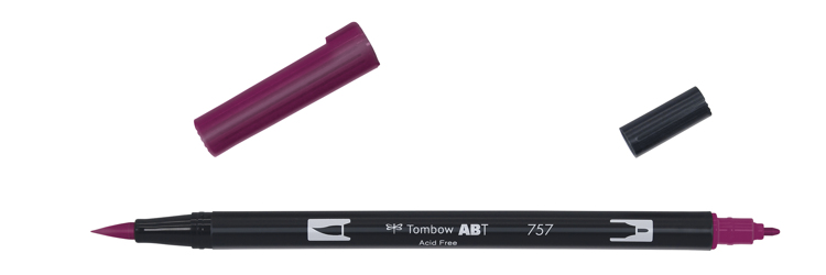 Tombow ABT Dual Brush Pen, Port Red