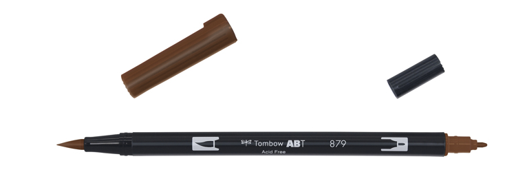 Tombow ABT Dual Brush Pen, Brown
