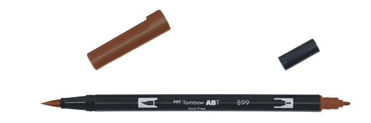 Tombow ABT Dual Brush Pen, Redwood