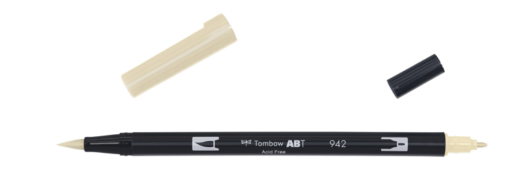 Tombow ABT Dual Brush Pen, Tan