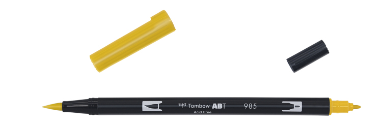 Tombow ABT Dual Brush Pen, Chrome Yellow