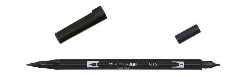 Tombow ABT Dual Brush Pen, Black