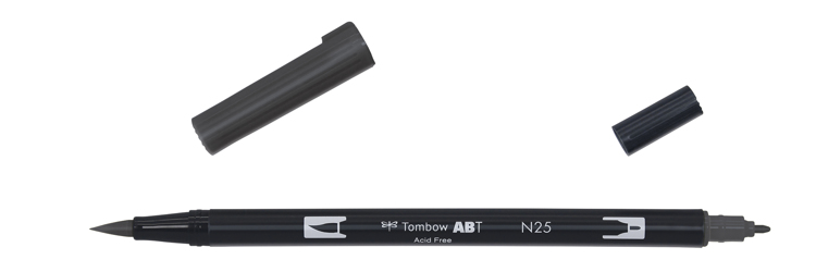 Tombow ABT Dual Brush Pen, Lamp Black