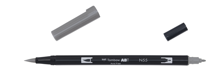 Tombow ABT Dual Brush Pen, Cool Grey 7