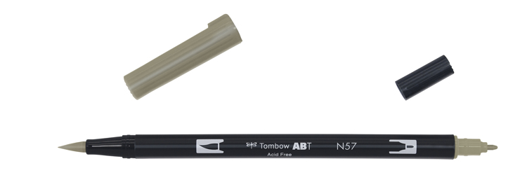 Tombow ABT Dual Brush Pen, Warm Grey 5