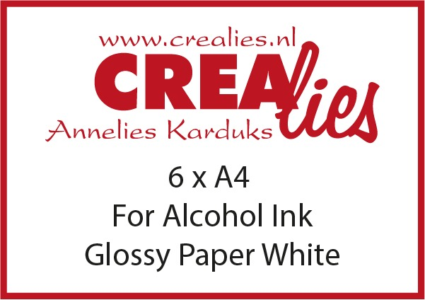 For alcohol ink: Glossy Paper, White (6x A4)