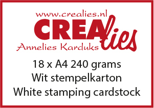 Stamping cardstock, white 240 grams (20x A4)