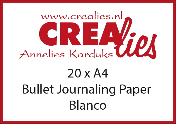 Bullet Journaling papier blanco, wit 150 grams (20x A4)