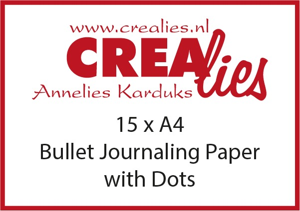 Bullet Journaling papier met dots, wit 150 grams (15x A4)