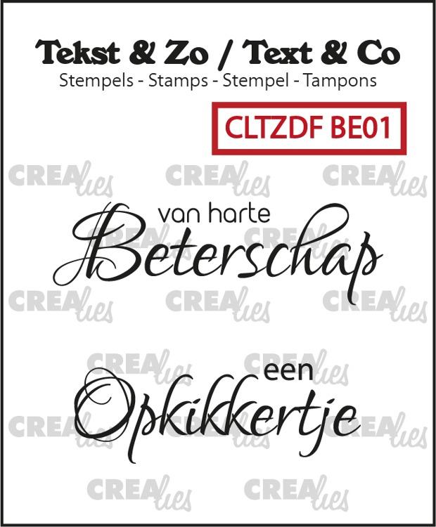 Tekst & Zo Duo Font stempels, Beterschap no. 1